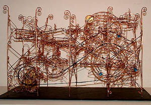 Wire sculpture by Ernst Heye