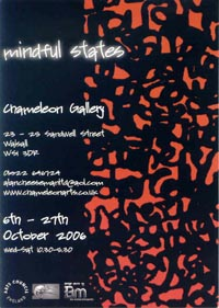 flier for the Mindful States Exhibition